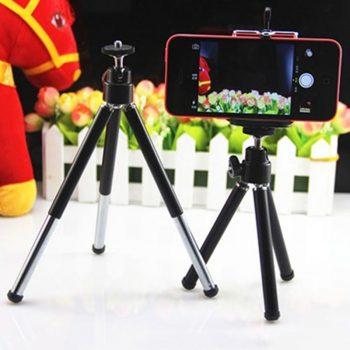 Įmantrus 360° kampu besisukantis trikojis telefono laikiklis iPhone Samsung HTC9
