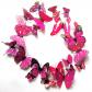rožini dekoro drugeliai