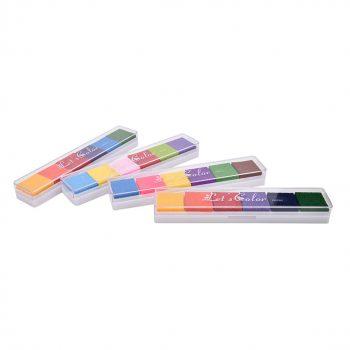 6 spalvų dažų paletė