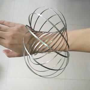 Kinetinis metalinis žiedas 6
