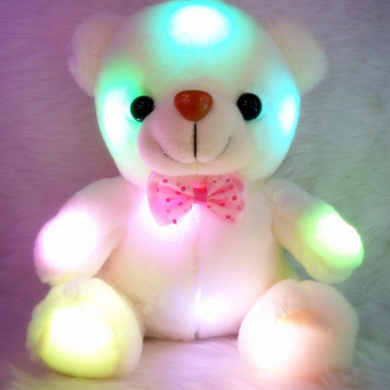Pliušinis LED šviečiantis meškiukas (3)
